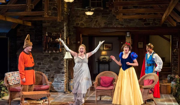 (L-R): Mark Blum, Kristine Nielsen, Christine Ebersole and David Hull in Christopher Durangs Tony Award-winning play Vanya and Sonia and Masha and Spike. (Craig Schwartz Photography)